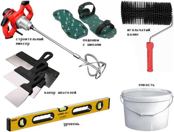 Набор инструментов для наливного пола