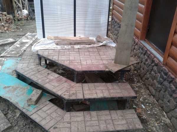 Облицовка крыльца тротуарной плиткой