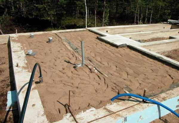 Песчаная подсыпка для пола по грунту