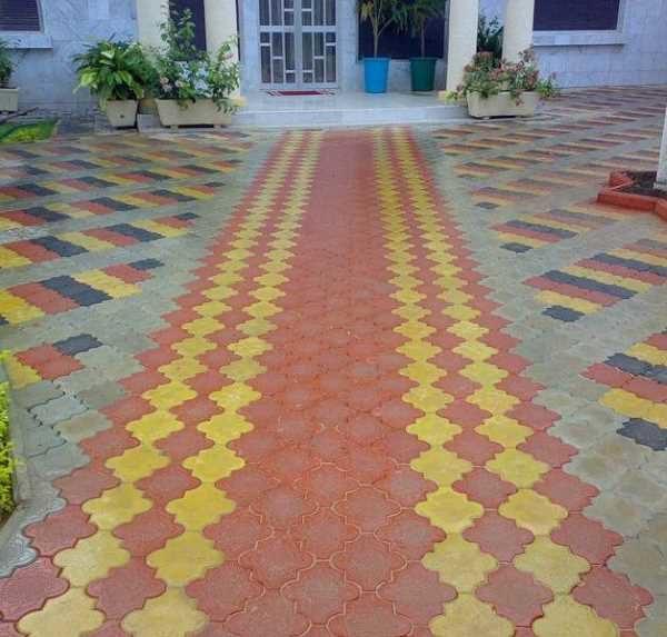 Тротуарная плитка клевер полосы