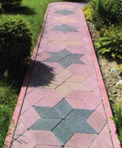 Совпадение цвета бордюра и плитки