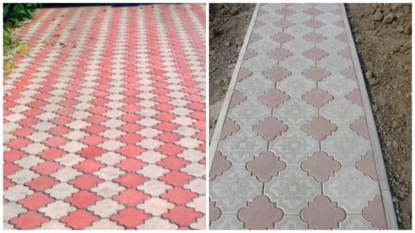 Тротуарная плитка - клевер