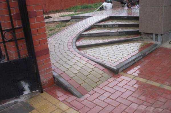 Тротуарная плитка на перекрестках