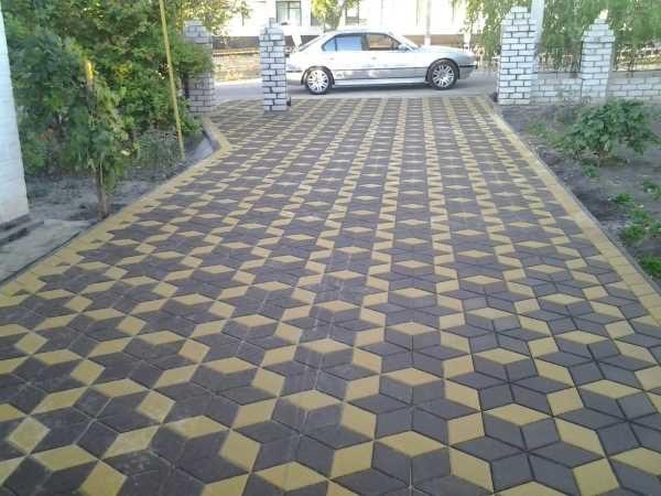 тротуарная плитка - ромб