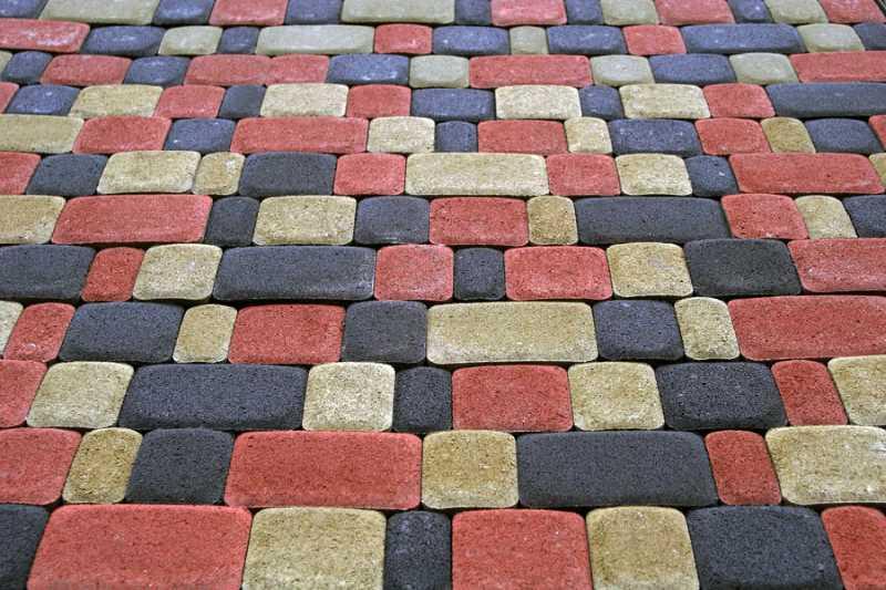 Схемы раскладки тротуарной плитки Старый город — варианты узоров