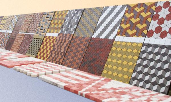 Выставка вариантов укладки тротуарной плитки