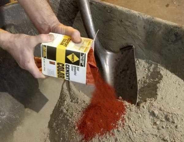 Химический краситель для бетона своими руками
