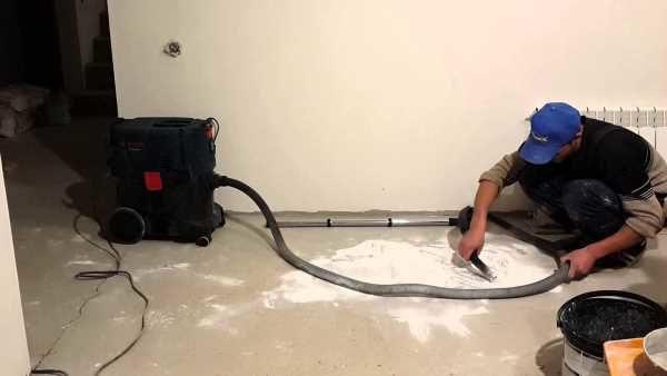 Очистка пола пылесосом