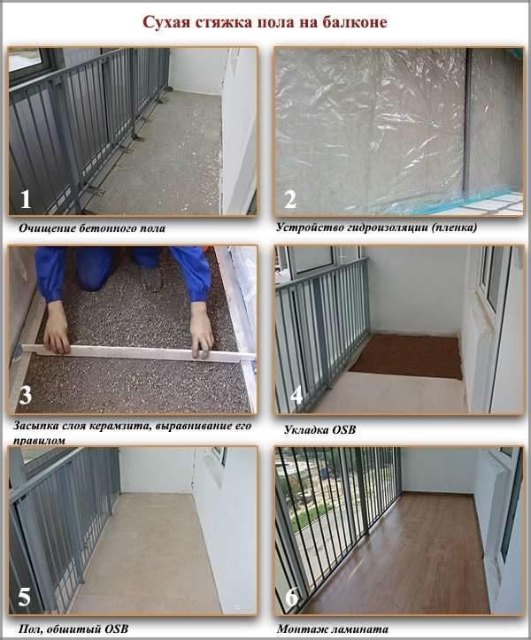 Выравнивать пол на балконе своими руками.