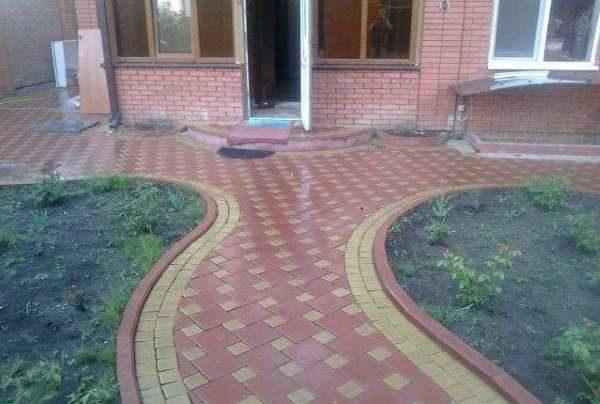 Диагональная укладка тротуарной плитки