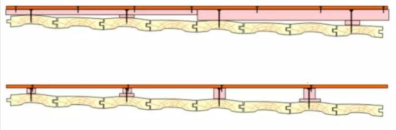 Схема сухой стяжки по лагам