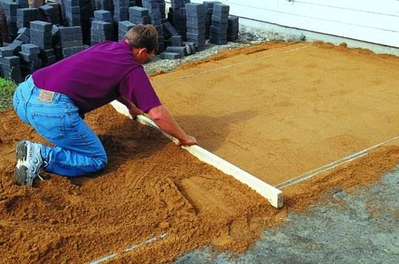 Классическая технология выравнивания песка