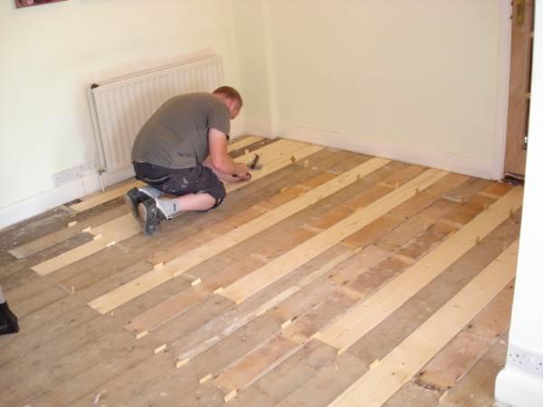 Местный ремонт деревянного пола