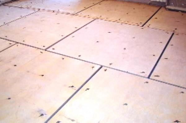 Порядная схема фиксации фанерных плит