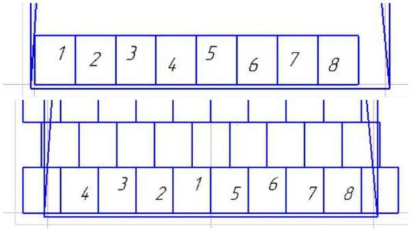 Схема раскладки фанеры от середины