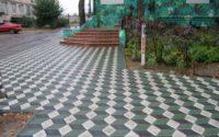 Укладка тротуарной плитки ромб