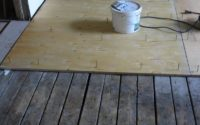Выравнивание деревянного пола фанерой