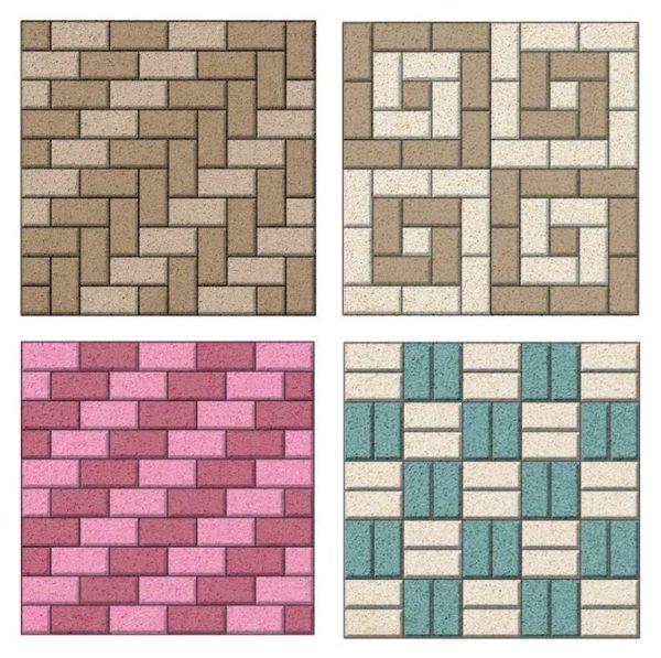 Схемы мощения тротуарной плитки