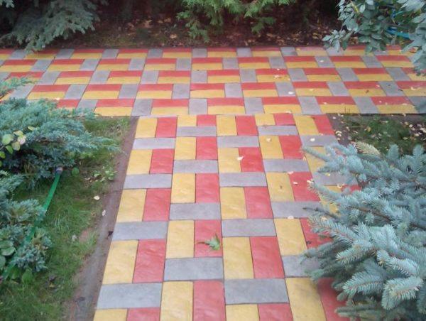 Цветная плитка Английский булыжник