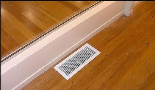 Отверстие для вентиляции в полу