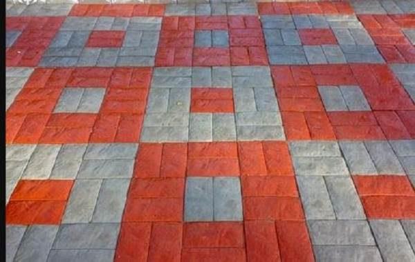 Узоры из цветной плитки