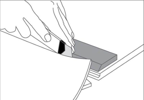 Формирование плотного стыка линолеума