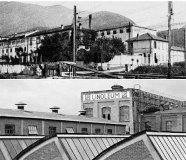 Фото первых заводов по производству натурального линолеума