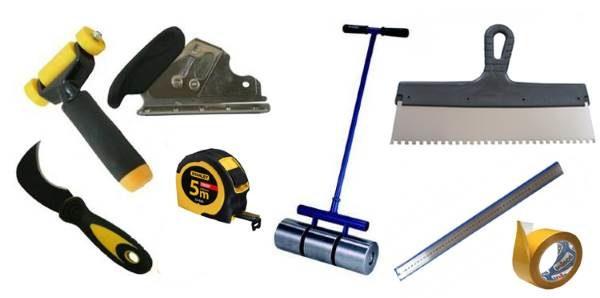 Инструменты для монтажа линолеума