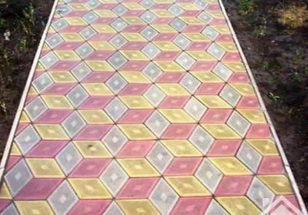 Шестигранник из тротуарной плитки Ромб
