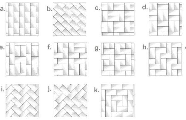 Схемы укладки тротуарной плитки Кирпич