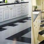 Бело-черные геометрические узоры из напольной плитки