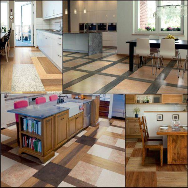 Модульная плитка ПВХ в интерьере кухни