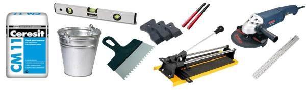 Набор инструментов для укладки плитки
