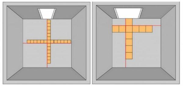 Распределение плитки по полу