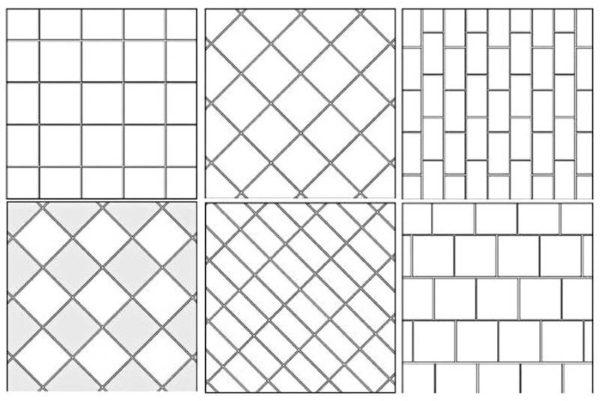 Схемы раскладки керамической плитки
