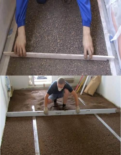 Способы выравнивания керамзита под сухую стяжку