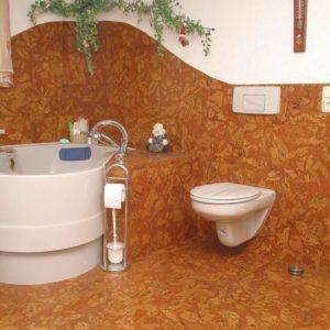 Пробка в ванной с заходом на стену