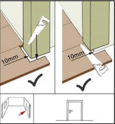 Схемы укладки ламината в дверном проеме