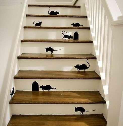 Лестница с рисунком