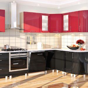 Обилие глянцевых текстур в интерьер кухни