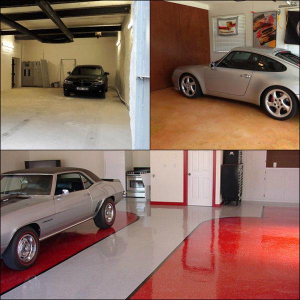 Пол в гараже – варианты исполнения