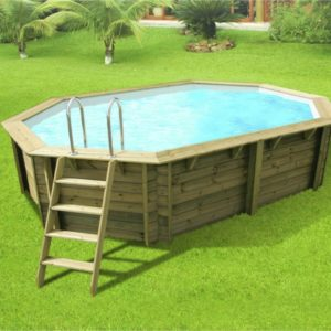 Украшение для бассейна из террасной доски