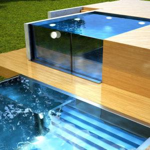 Лакированный массив для стеклянных бассейнов