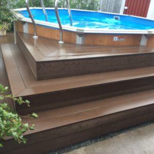 Лестница для каркасного бассейна лагах