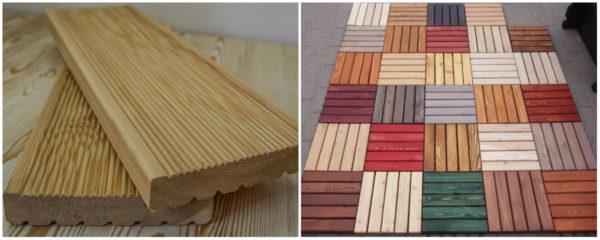 Виды террасной доски из цельной древесины