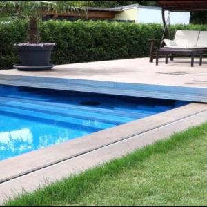 Защитная «крыша» для бассейна из доски