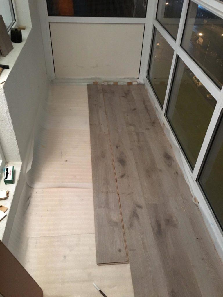 Как сделать пол на балконе/лоджии своими руками