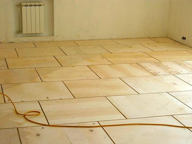 Как уложить фанеру на бетонный пол под паркетную доску, ламинат и линолеум