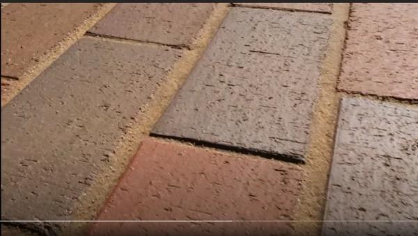 Внешний вид тротуара после расшивки модифицированным песком