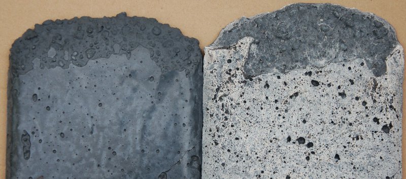 Структура бетона с воздухововлекающими добавками